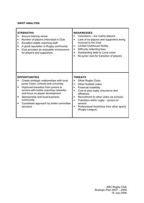 4 abc rugby union club strategic plan template
