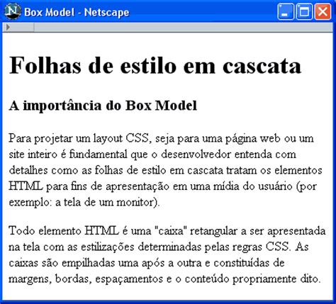 layout em css tutorial css posicionamento css box model 1