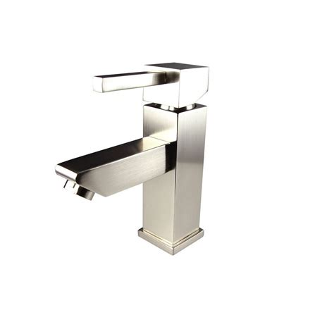 single hole bathroom faucet brushed nickel fresca versa single hole 1 handle low arc bathroom faucet