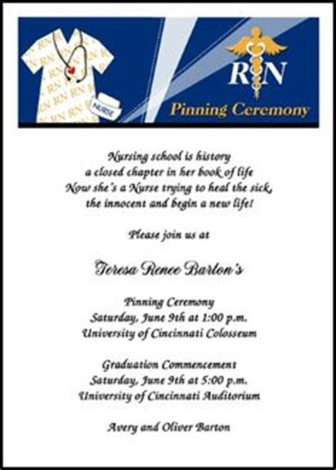 nursing school cards template 1000 images about pinning ceremony invitations and