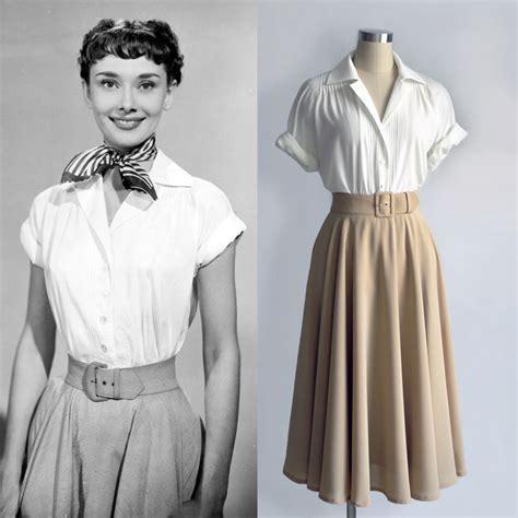 Nasya Blouse White 50 hepburn fashion white blouse pleated