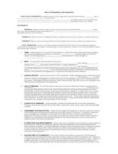 Residential Lease Agreement Template Free Download New York Standard Residential Lease Agreement Template
