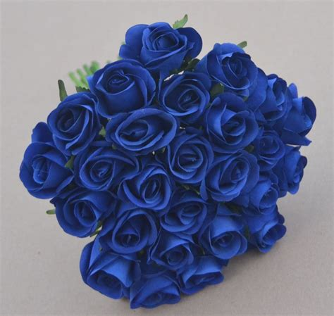 Pre Made Bridesmaid Bouquets by Roses Blue Silk Posy Bouquets Wedding Bouquet Pre