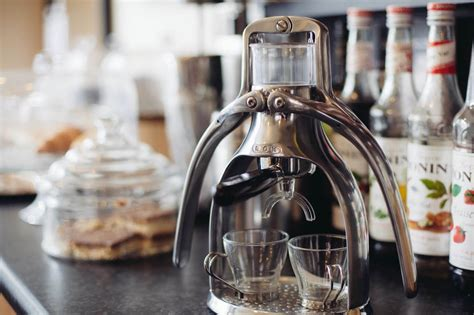 Rok Coffee rok espresso maker with a manual non electric design