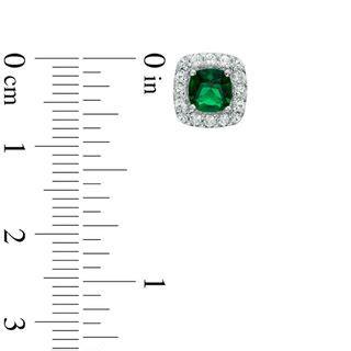 5 0mm cushion cut green quartz doublet and lab created