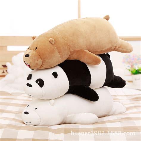 aliexpress buy 50cm anime we bare bears plush soft pillow toys for children s