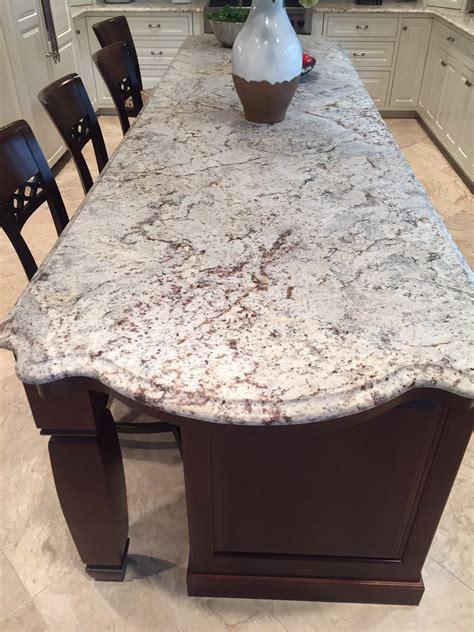 White Kitchen Island With Granite Top infinity countertops