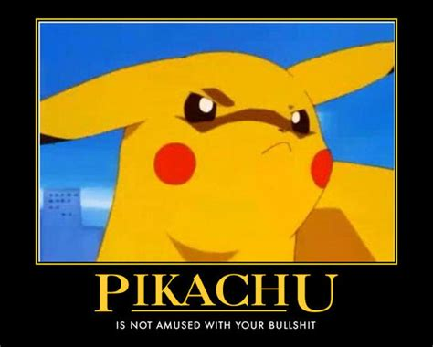 Funny Pikachu Memes - pikachu is not amused by egofaptor on deviantart