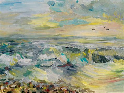 Cat Akrilik Gouache gratis billeder strand landskab hav kyst solnedgang