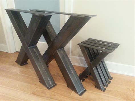 metal x table legs chunky x steel table legs 4 quot