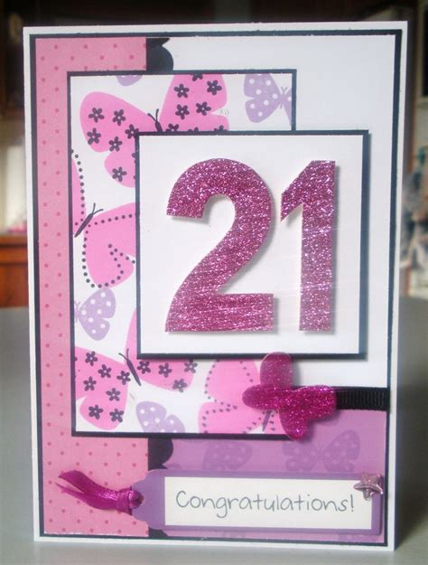 Handmade 21st Birthday Card Ideas - 25 best ideas about 21st birthday cards on 21