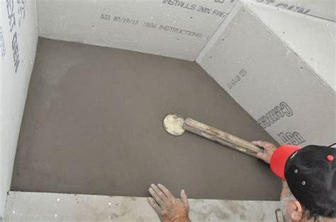 pour  shower pan  project closer