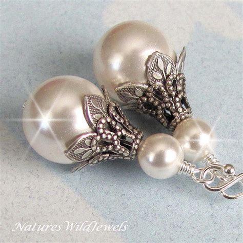 bridal jewelry michelles vintage jewelry bridal pearl earrings vintage style wedding earrings