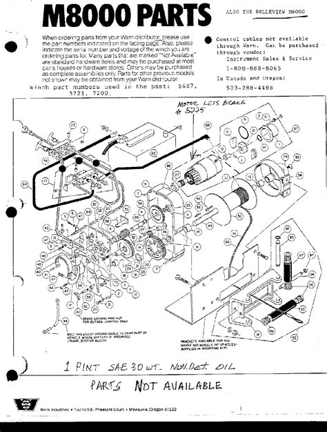 warren winch 8000 wiring diagram 06 ford explorer radio