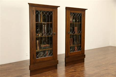 antique cabinets with glass doors pair arts crafts mission oak 1905 antique corner
