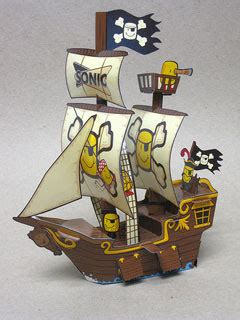 Papercraft Pirate Ship - pirate ship papercraft the salty tot paperkraft net
