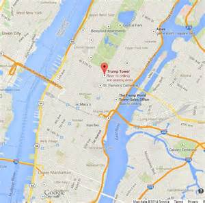 Trump Towers Address Trump Tower On Map Of Manhattan World Easy Guides