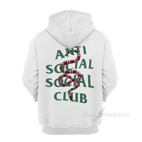 Jaket Sweater Zipper Anti Sosial Sosial Club Navy Dealdo Merch assc anti social social club x gucci snake hoodie trendstees