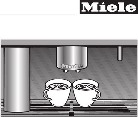 miele koffiemachine 5060 bedienungsanleitung miele cva 5060 seite 1 von 80 englisch