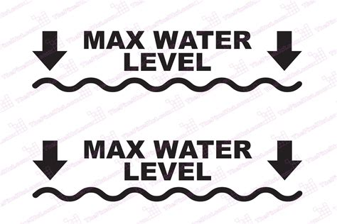Sticker Water Decal Ble2335 max water level depth decal for your jeep truck 4x4 the pixel hut