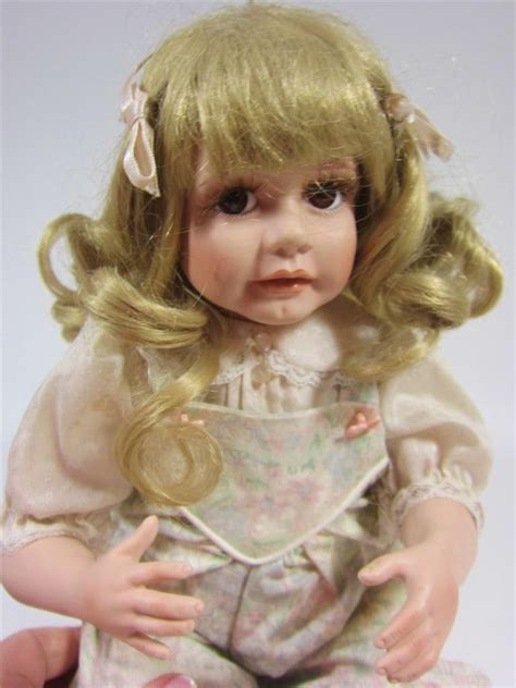 porcelain doll 1990 porcelain baby doll puppy 1990