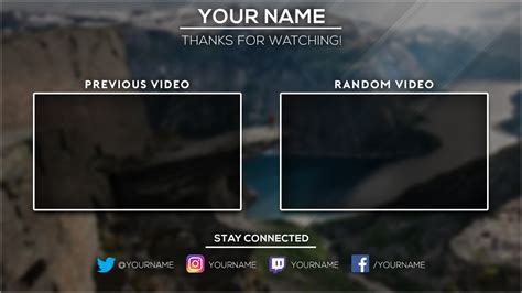 youtube outro template maker free youtube outro template