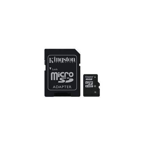 Kingston Microsdhc High Capacity Micro Secure Digital Card 16gb cart 227 o de mem 243 ria microsdhc 16gb class 4 high capacity micro secure digital card adaptador