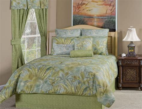tropical comforter sets queen 9pc blue green tropical plants design comforter set queen