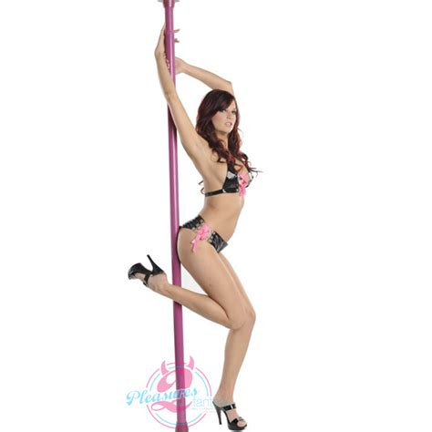 Description Of A Dancer by Pole Fitness Static Exercise Portable Kit Free Dvd Ebay