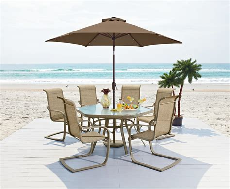 7pc patio dining set garden oasis ss k 138 2nxlset 7pc patio