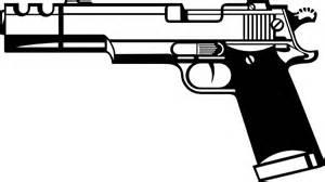 Cartoon Gun Clip Art Sketch Coloring Page sketch template