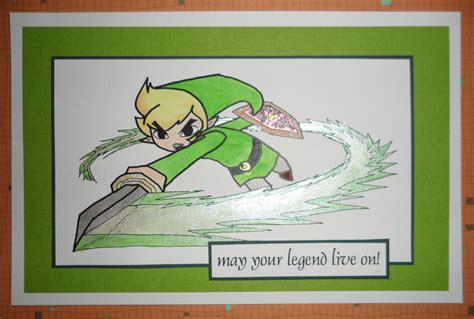 printable zelda card link card blank or birthday legend of zelda