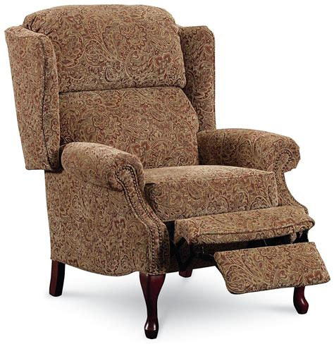 high leg wingback recliner lane hi leg recliners 2530 savannah high leg wing back