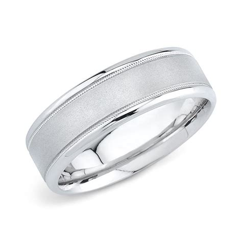 Wedding Bands White Gold by 14k White Gold Mens Wedding Band 7mm Comfort Fit