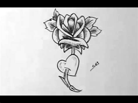 how to draw a beautiful simple rose flower youtube