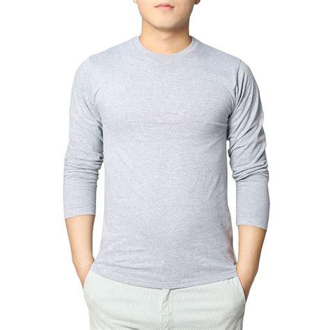 Kaos Polos Basic Tees Unisex Black Solid get cheap fashion clothing aliexpress alibaba