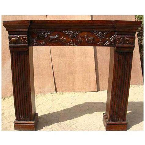 solid wood brass work fireplace guard surround mantel