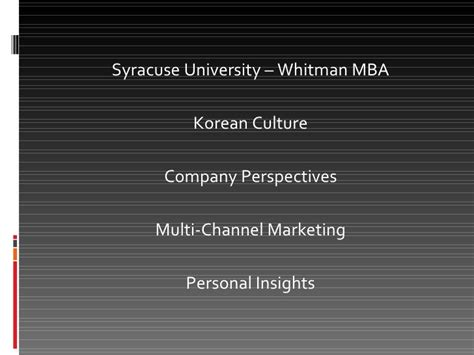 Syracuse Mba Curriculum by Managing Innovation South Korean Perspective