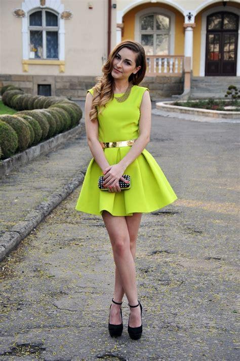 Dress Pelangi Hijau Lime neon yellow wedding guest dress outdoor wedding guest yellow weddings neon