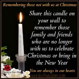 Daveswordsofwisdom com remembering loved ones at christmas