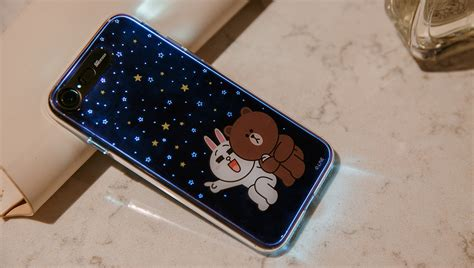 line friends brown cony soft lighting phone