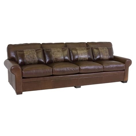 classic leather sofas classic leather 11518 115 leather sofa library 115 inch
