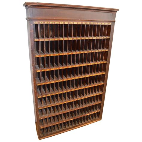 postal filing cabinet with numbered mail slots for sale at