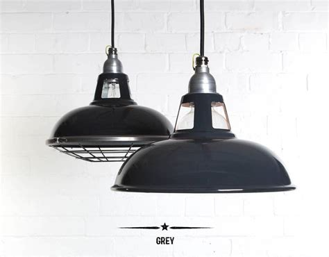 Pendant Lights Sale Farsley Enamel Industrial Factory Pendant Light By Dowsing Notonthehighstreet