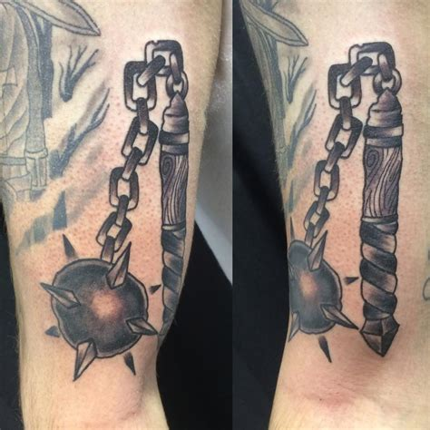 ball and chain tattoo immortal tattoos black and gray and