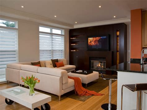 modern family room living room modern living room with nice fireplace