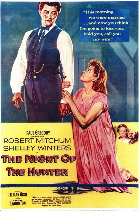 libro night of the hunter the night of the hunter movie poster 1955 1020143889 heyuguys