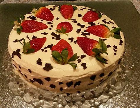 Schnelle Torten by Schnelle Erdbeer Mascarpone Torte S Fletcher