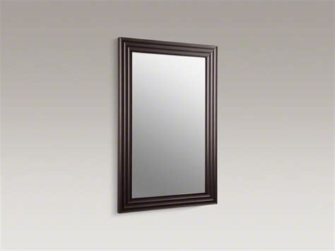 Kohler Mirrors Bathroom | kohler escale r 26 quot w x 38 quot h wood frame mirror