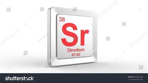 sr symbol 38 material for strontium chemical element of
